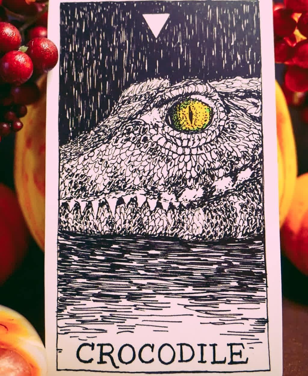 Oct 22 - How can I be more authentic?⠀ ⠀ Crocodile - Resting, Submerging, Collecting Energy, Cooling off.⠀ ⠀ October Tarot Challenge by @rosebymystics #deepdivetarot⠀ ⠀ #witchesofinstagram #spiritual #tarotreadersofinstagram #spirituality #oracle #tarotcommunity #divination #wicca #healing #crystals #pagan #greenwitch #greenwitchcraft #witchcraft #October #greenwitchcraft Oct 22 - How can I be more authentic?⠀ ⠀ Crocodile - Resting, Submerging, Collecting Energy, Cooling off.⠀ #greenwitchcraft