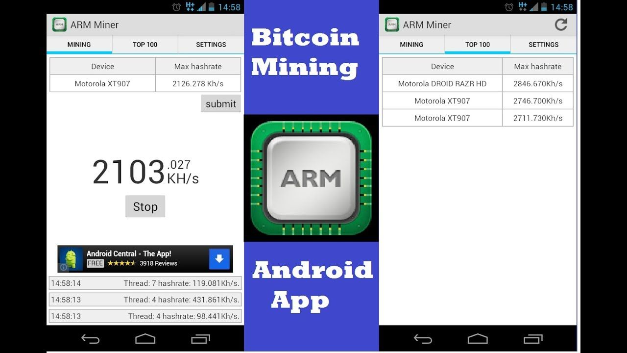 Bitcoin mining on android phone app in 2018| ARM miner Huawei Tablet
