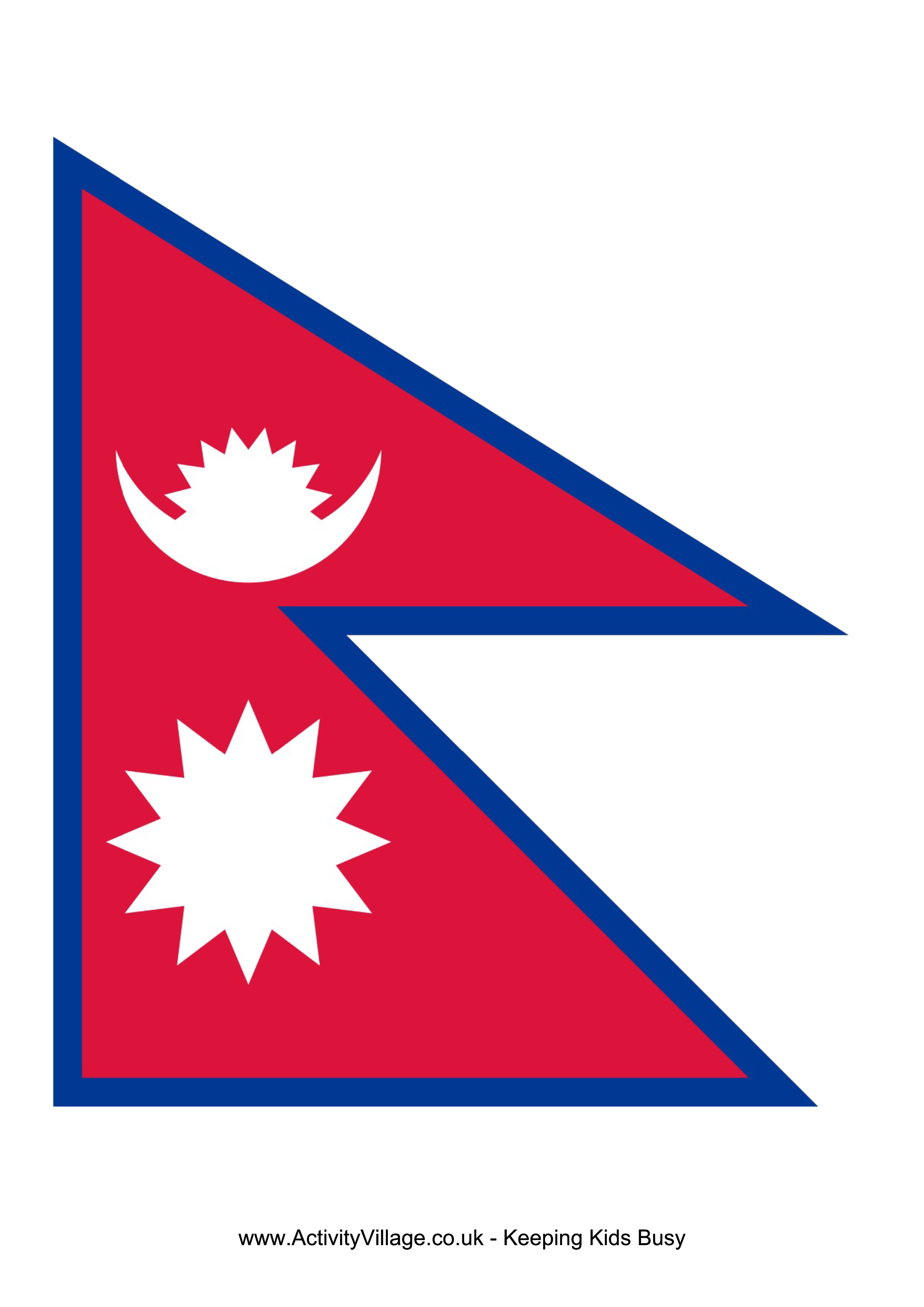 Nepal Flag Download This Free Printable Nepal Template A4 Flag A5 Flag 8 And 21 Flags On One A4page Easy To Use In Your Own Nepal Flag Flag Printable Flag