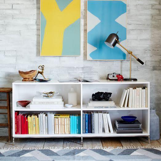 Lacquer Storage Bookcase West Elm Archives Bookcase Storage Office Storage Furniture Desk