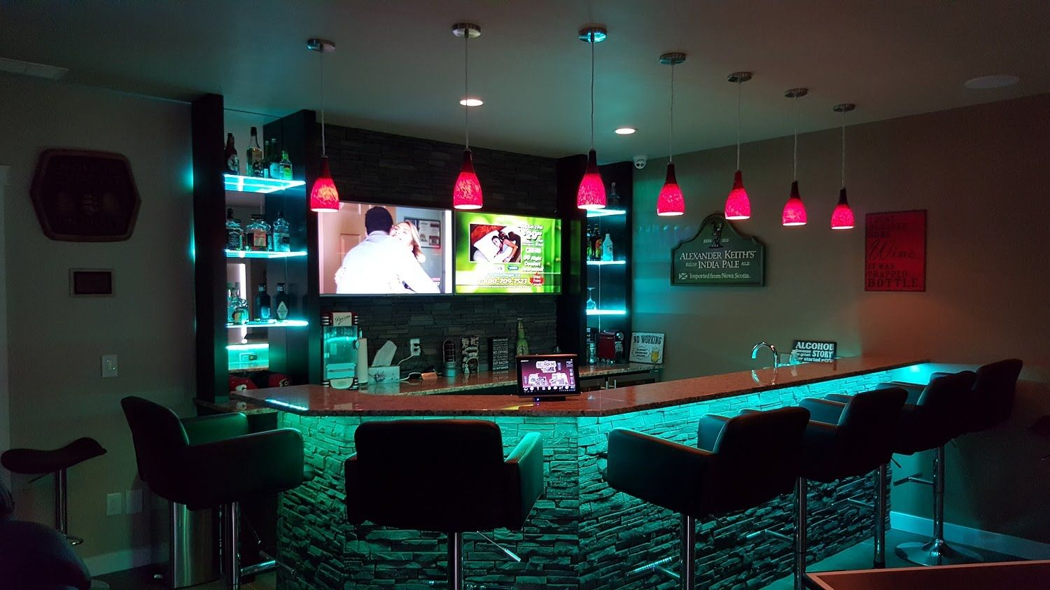 Tech Home Solutions Basement Bar Automation And Control Youtube