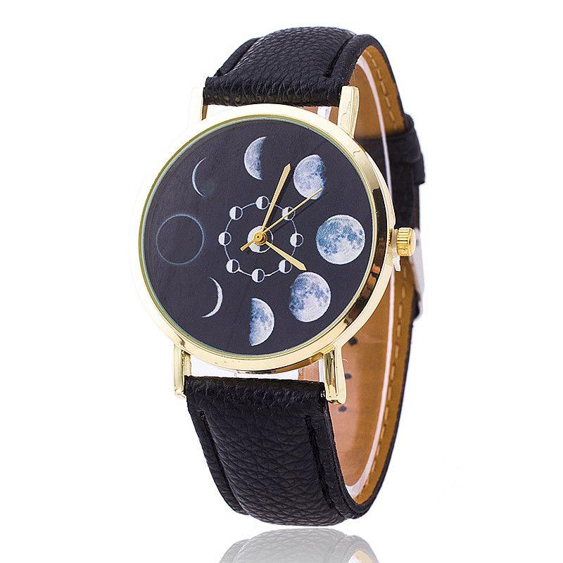 Fase lunar astronomía espacial reloj moda mujer relojes de cuarzo reloj de cuero Casual reloj Relogio Feminino regalo navidad BW1766 en Relojes moda de Relojes en AliExpress.com   Alibaba Group