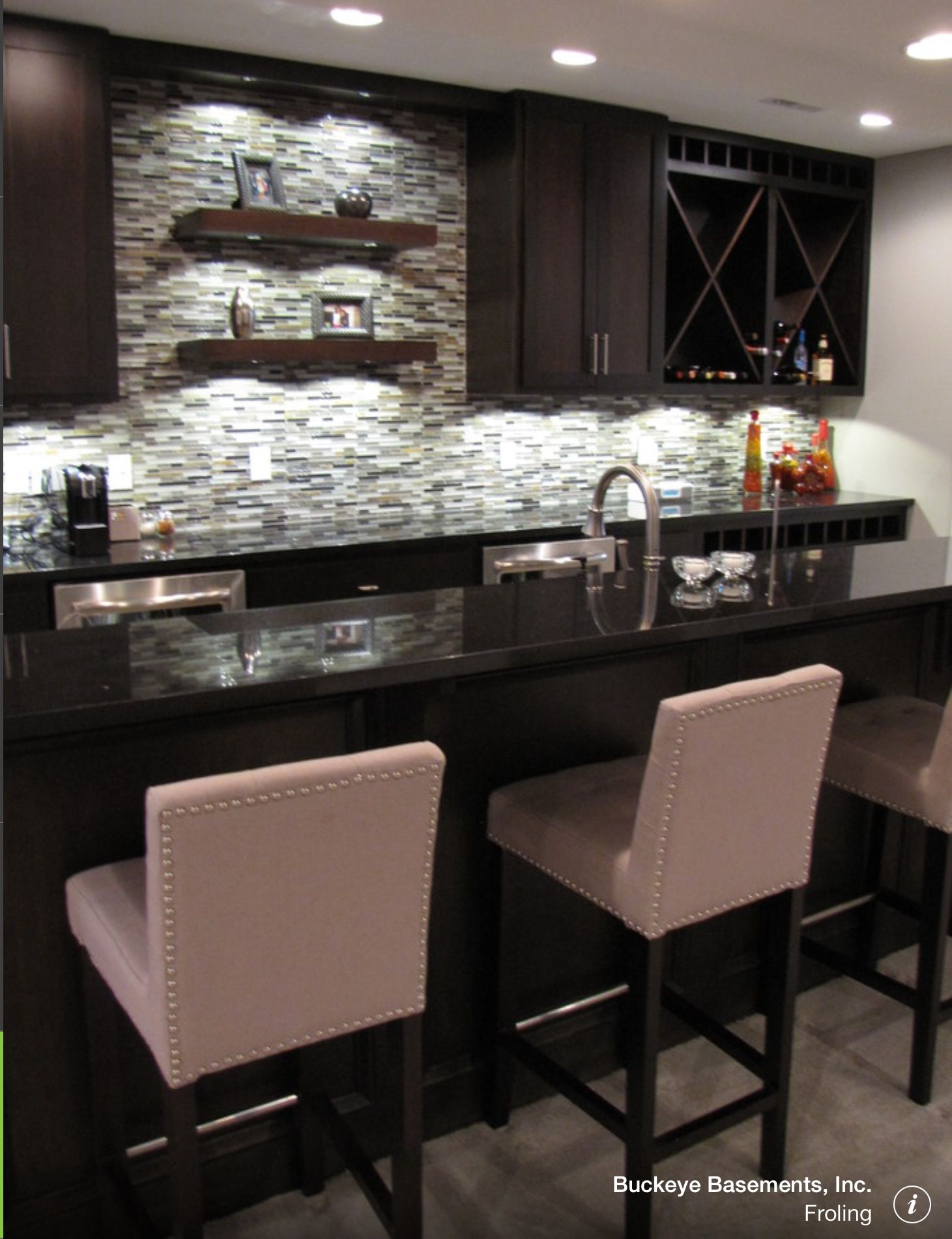 Finished Basement Bar Ideas basement bar. love the bar stools | lokuta's humble abode