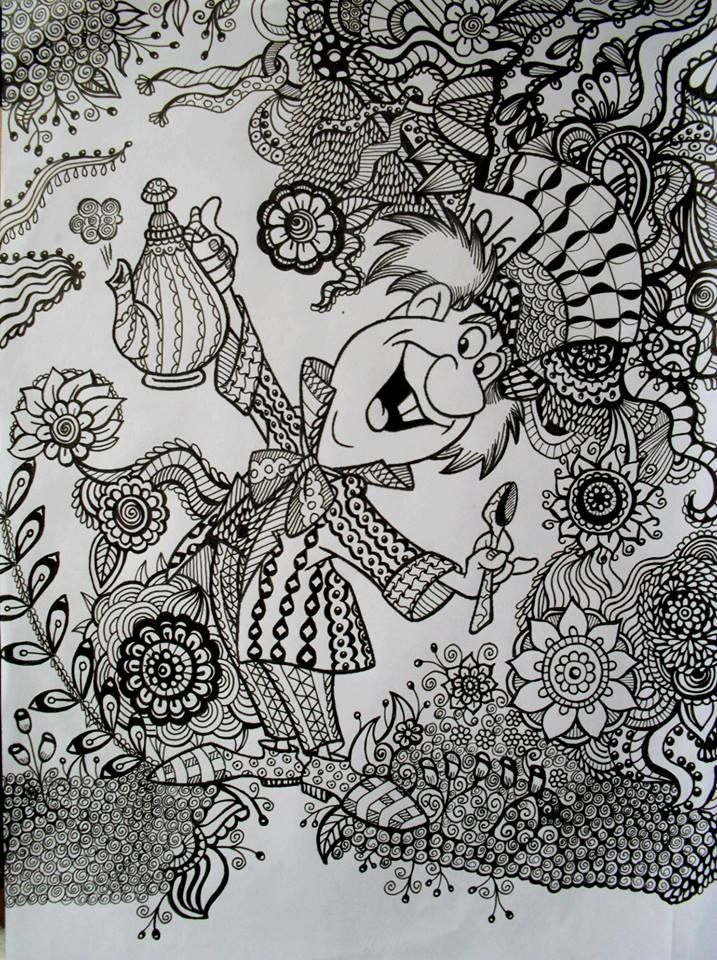 By ariane naranjo click for detail zentangles in 2018 pinterest coloriage disney - Mandala adulte ...