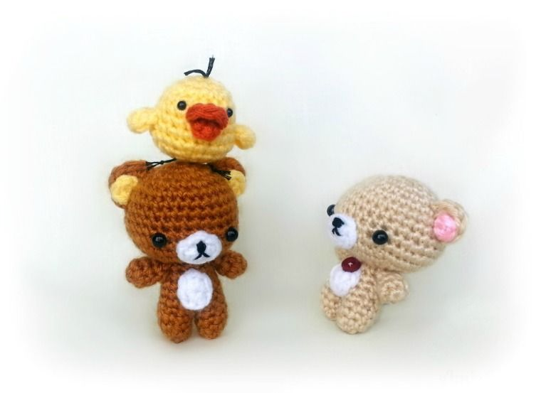 Rilakkuma and his friends! Free pattern for the chick! | häkeln pdf ...