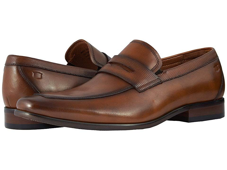 ce82b312837 Florsheim Postino Moc Toe Penny Loafer (Cognac Smooth/Perf) Men's Slip-on  Dress Shoes. Give your business wardrobe an elevated boost with the  sophisticated ...