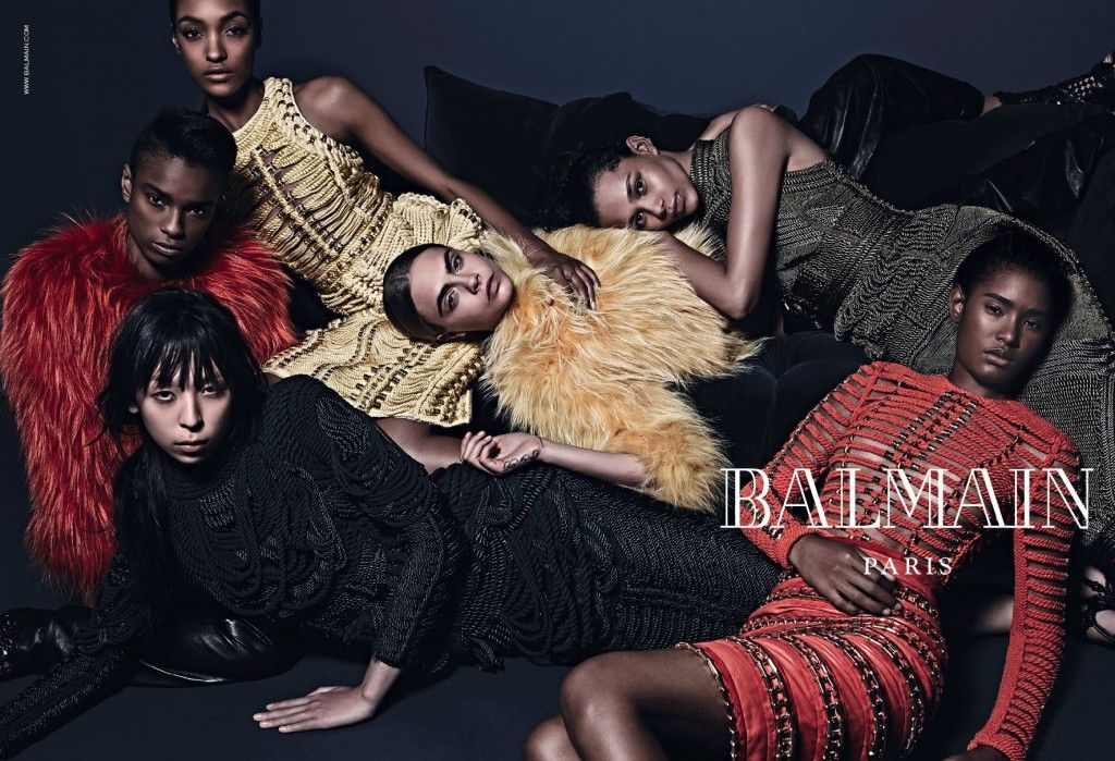 Dark -haired Cara Delevingne is in, Rihanna is out, for Balmain Fall/Winter 2014-15 Ad Campaign - LaiaMagazine