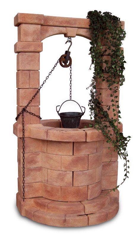 Pozzo da giardino brenta mattone pozzi decorativi - Pozzi da giardino ...
