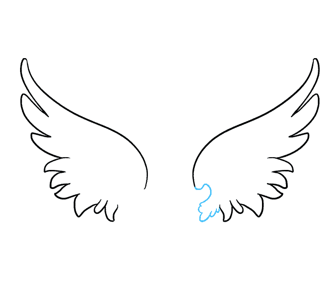 How To Draw Angel Wings With Images Angel Wings Drawing Wings
