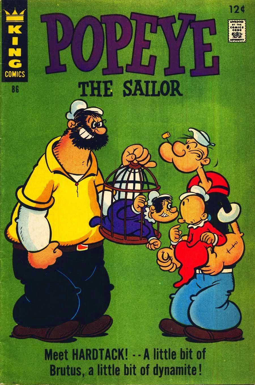 Popeye #86 | Popeye | Comics, Comic books, Comic covers