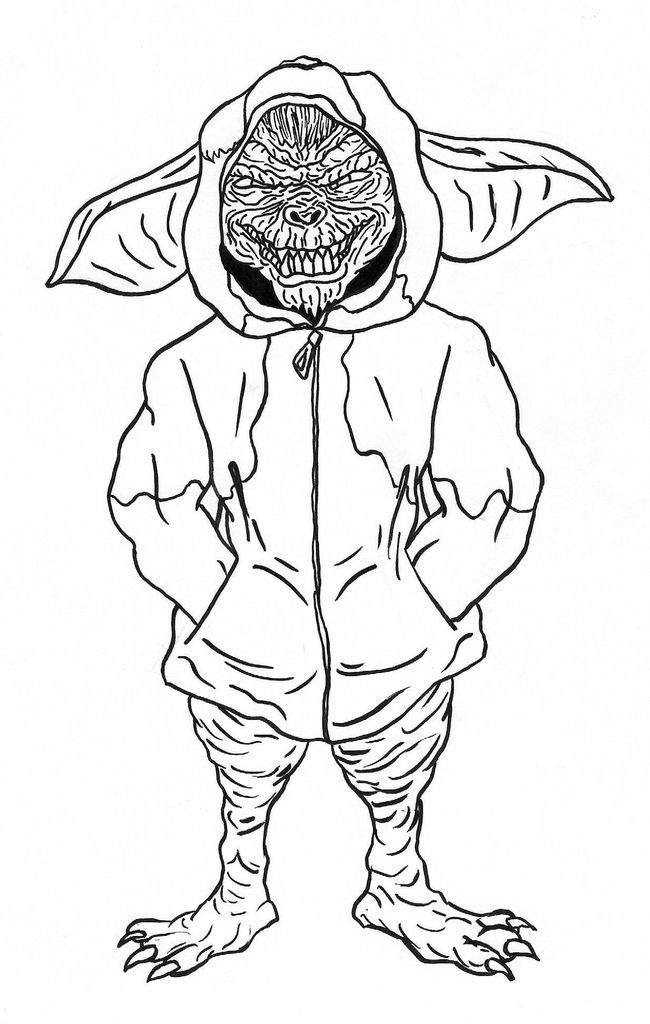 Gizmo Gremlins Coloring Pages | Gremlins | Pinterest
