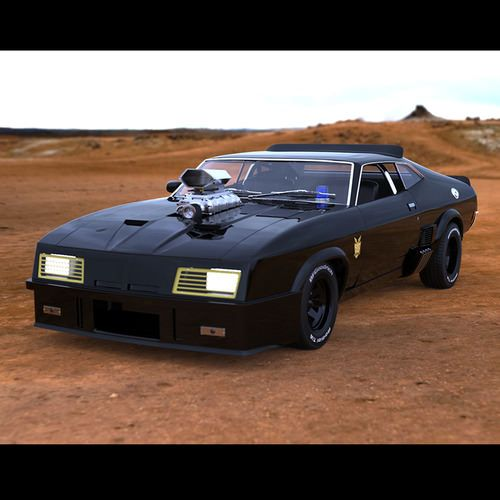 Bmw Xb: Mad Max V8 Interceptor 3D Model