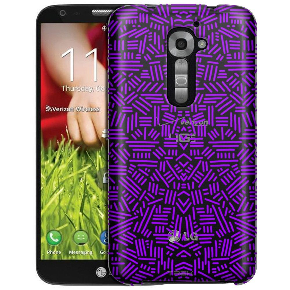 LG Verizon G2 Abstract Purple Lines Clear Case | Products