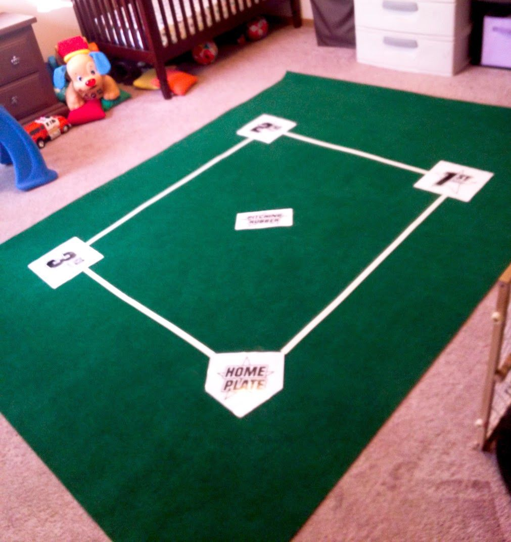 Glow In The Dark Baseball Rug Quis Creations DIY Room Part