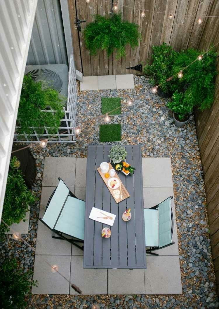 Jardines peque os ideas modernas 50 dise os p rgolas terrazas pinterest terraza jardin - Suelos para jardines pequenos ...