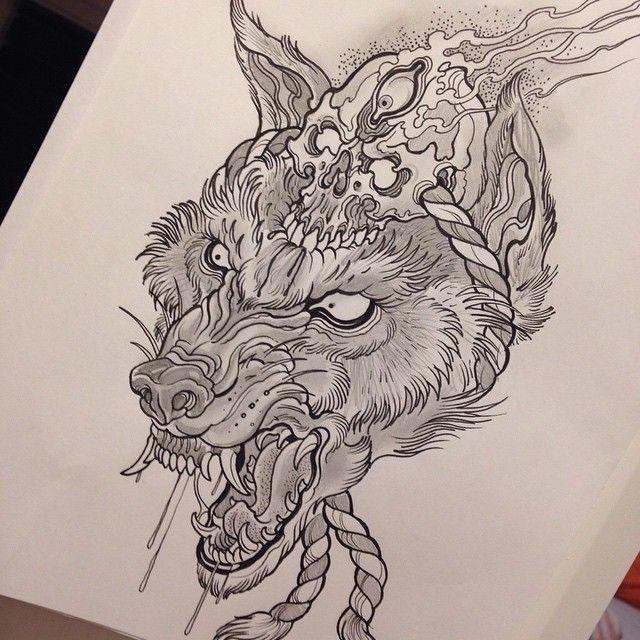 Pin By Shawn Heath On Neo Japanese Tattoo Wolf Tattoo Traditional Shadow Tattoo Japan Tattoo Design