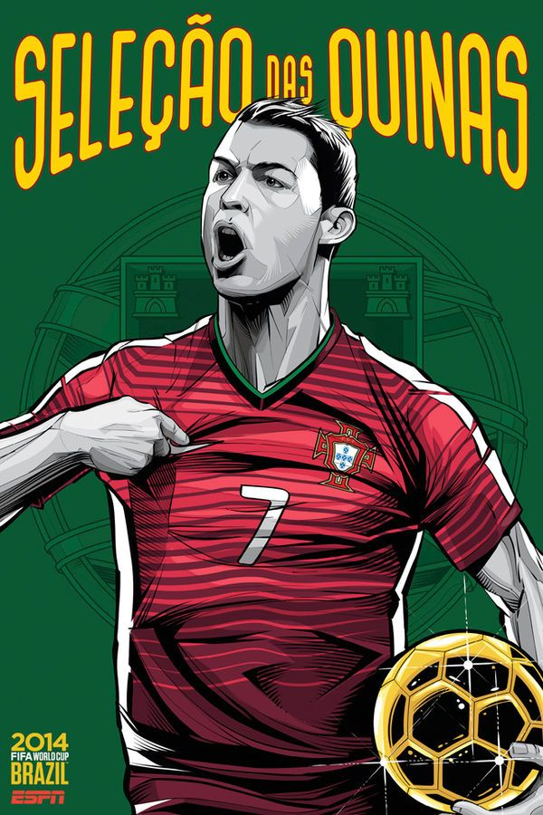Personalized 2014 FIFA World Cup Soccer Event Brazil Poster National Team Banner