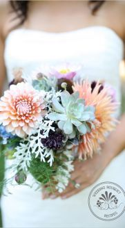 Succulent wedding bouquet. i like this one alot. i like the minty color frosted leaf @Tiffany Garcia