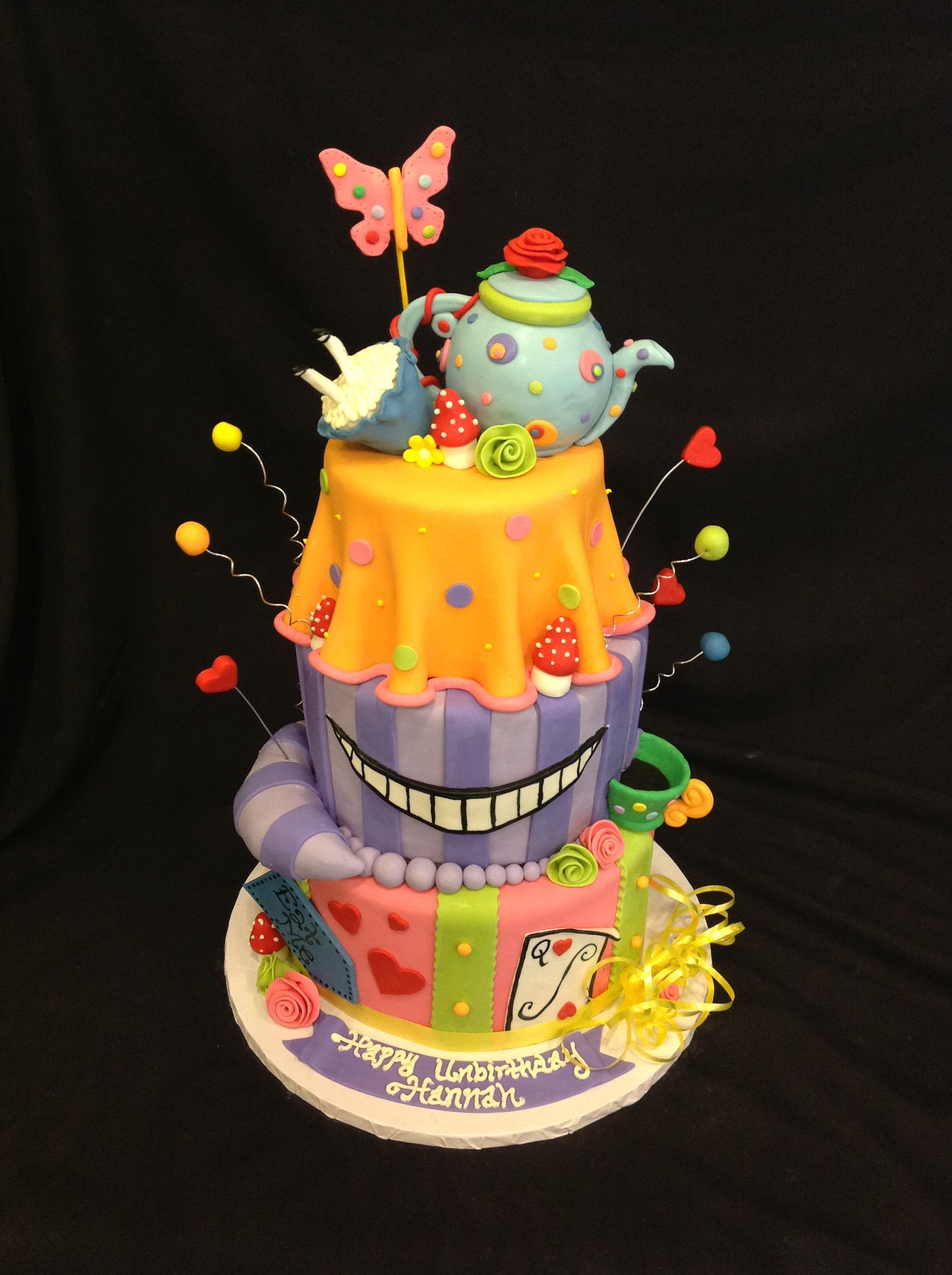 Simply Mad Alice in Wonderland Cake by Short North Piece of Cake
