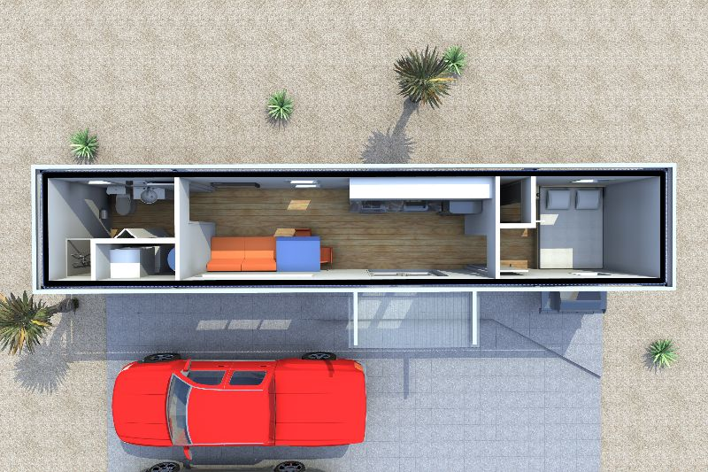 Bachelor by Cubular Container Buildings