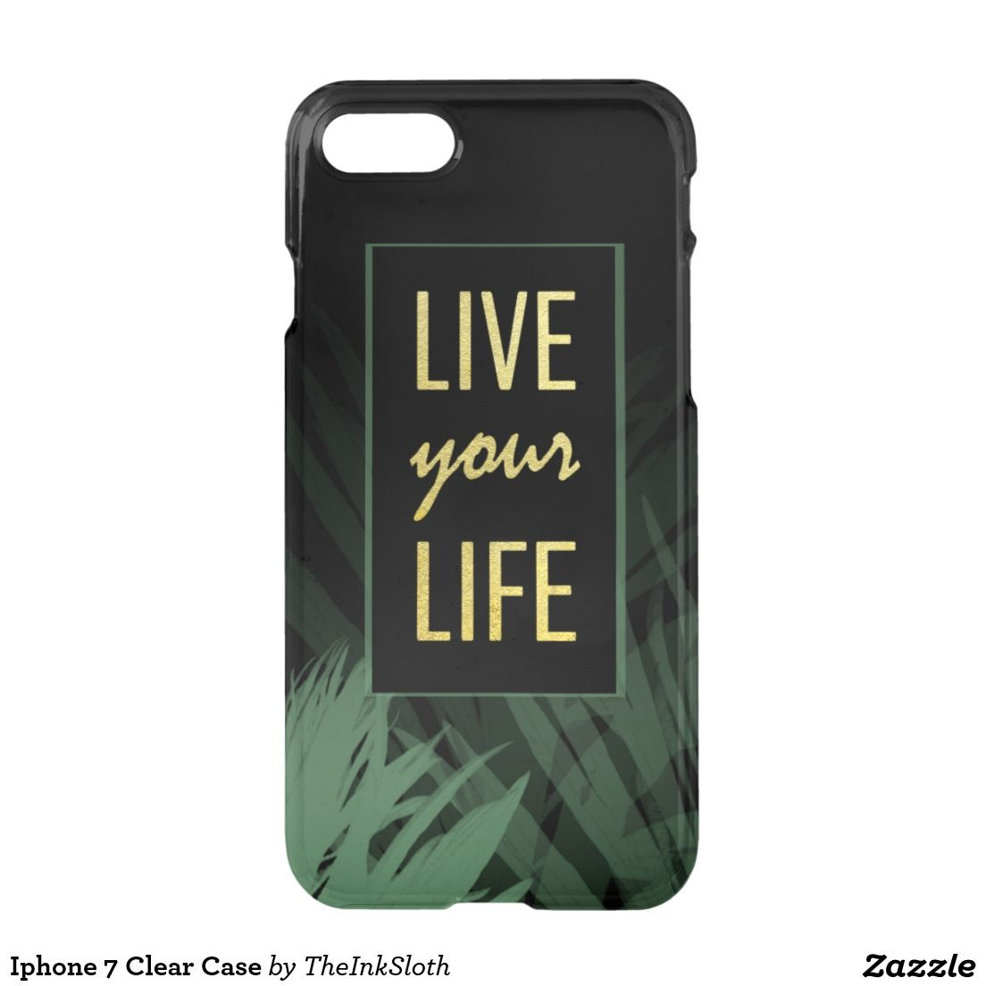 #Iphone #iphone7 #Clear #Case #phonecase #phone #mobile #decorativecase #goldtext #goldfont #goldtype #typography #quote #sayings