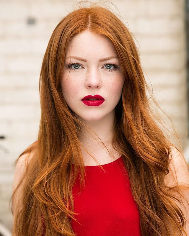 Red Hair Red Lips Red Dress For Redhead Beauty Book Redhead