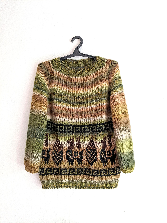 Handknitted Sweater Tunicperuvian Motiveplus Size Etsy In 2021 Plus Size Sweater Dress Hand Knitted Sweaters Sweaters [ 3000 x 2250 Pixel ]