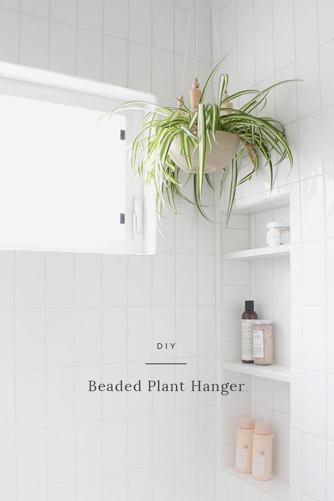 DIY beaded plant hanger | Plant hangers, Greenery and Plants