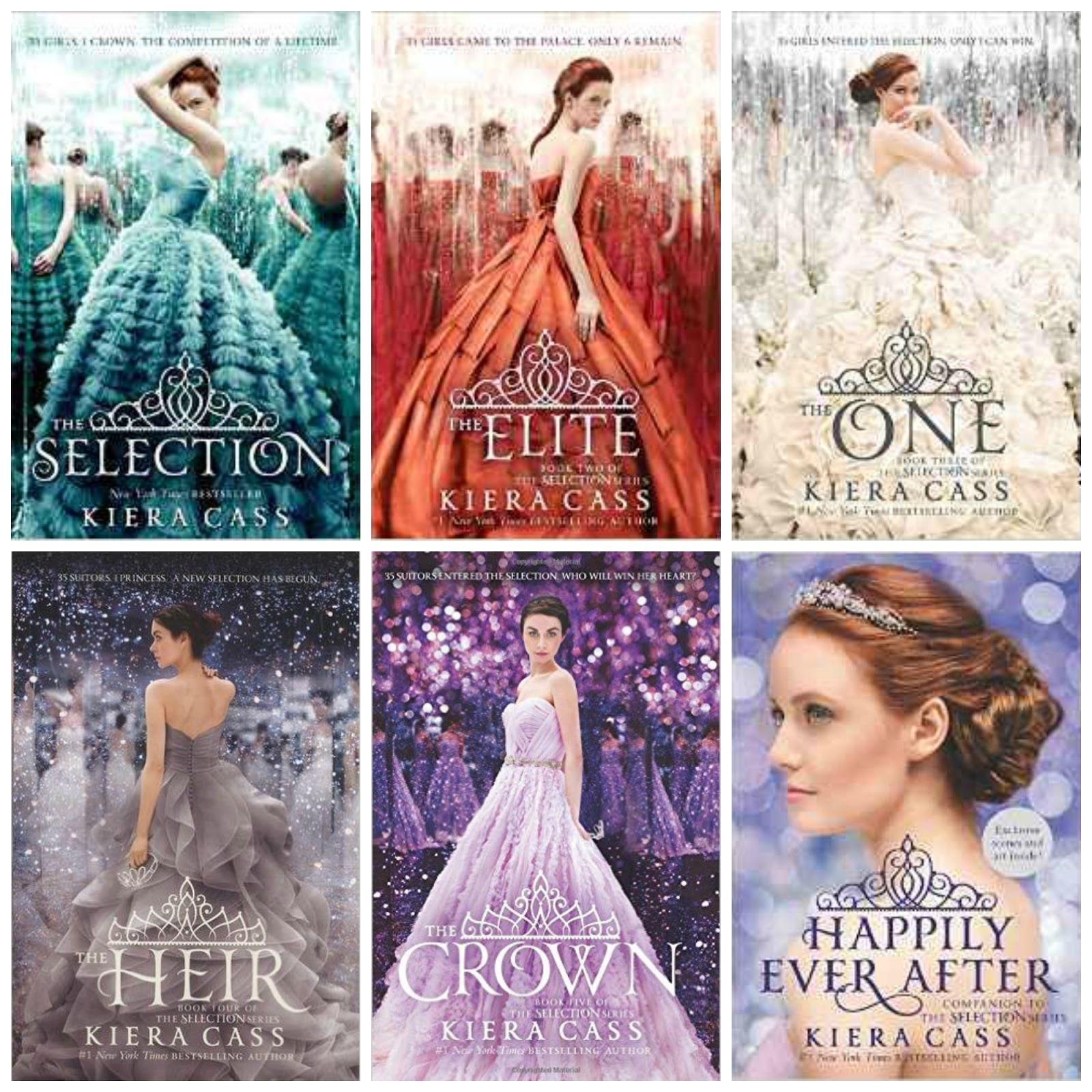 The Selection Series by Kiera Cass | Kiera cass books, Selection ...