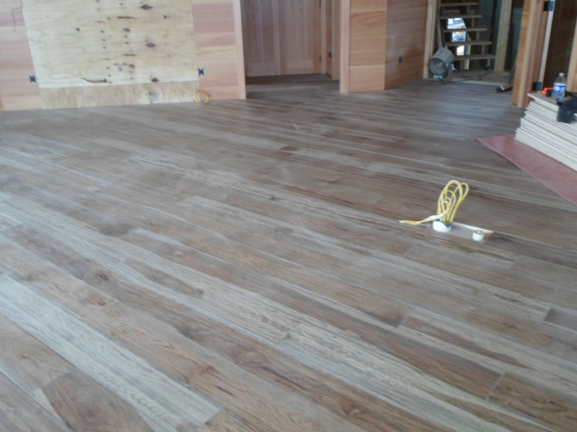 Another photo of our Plantation Hickory floor done by Superior Floors in Lake Placid, NY.