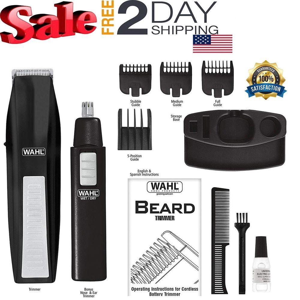 Beard trimmer mustache cordless clipper battery shaver