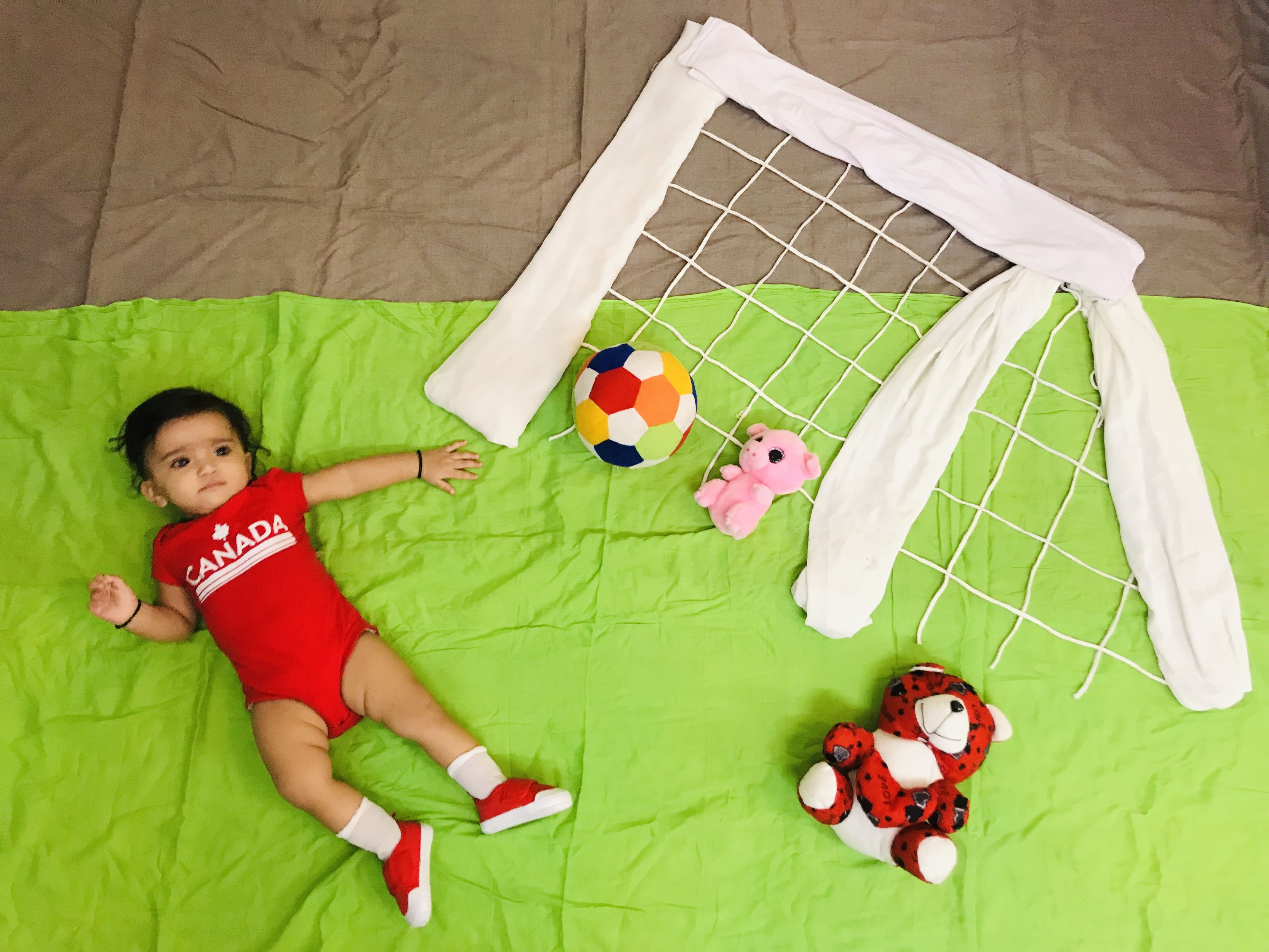 Baby Photoshoot At Home Football Soccer Theme Baby Photoshoot Soccer Theme Sports Theme