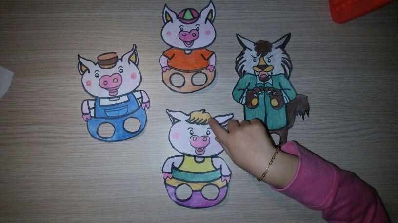 Los 3 cerditos... Marionetas de dedo divertidas | Education ...