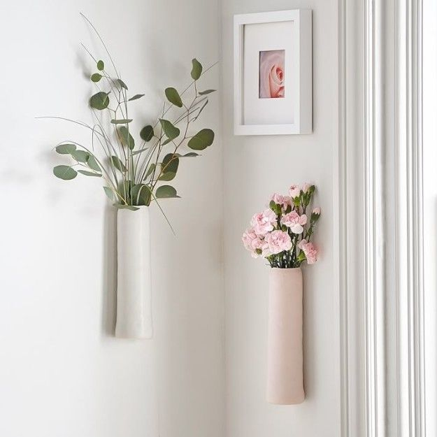 A Ceramic Vase That You Can Mount On To The Wall Wall Vase Decor Wall Vase Wall Mounted Vase