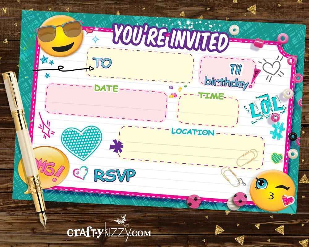 graphic relating to Blank Printable Invitations referred to as Emoji Fill In just The Blank Invites - Blank Printable