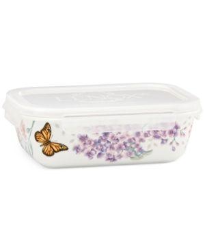 Lenox Porcelain Butterfly Meadow Rectangular Serve & Store Dish - White