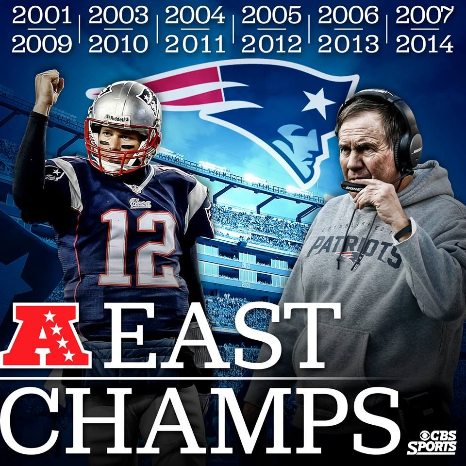 Division Dominance Tom Brady And The New England Patriots Have Now Won The Afc East 12 Of T New England Patriots Nfl New England Patriots New England Football