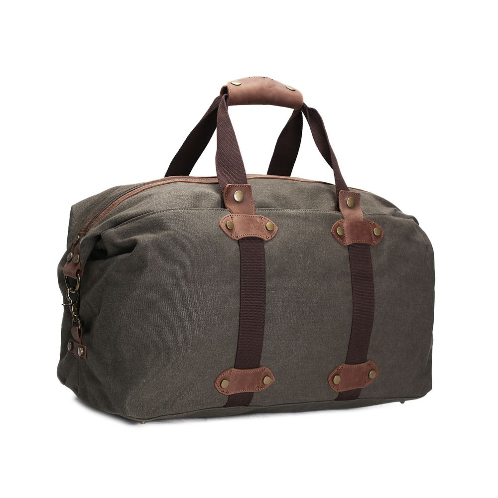 ROCKCOW Vintage Military Canvas Crazy Horse Men Travel Bags Carry on  Luggage bags Men Duffel Bag 816c837560ee0