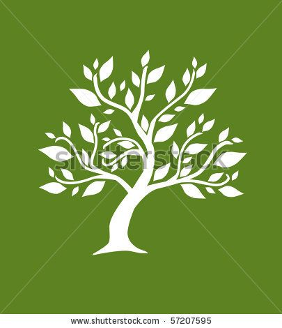stock vector : abstract tree, symbol of nature