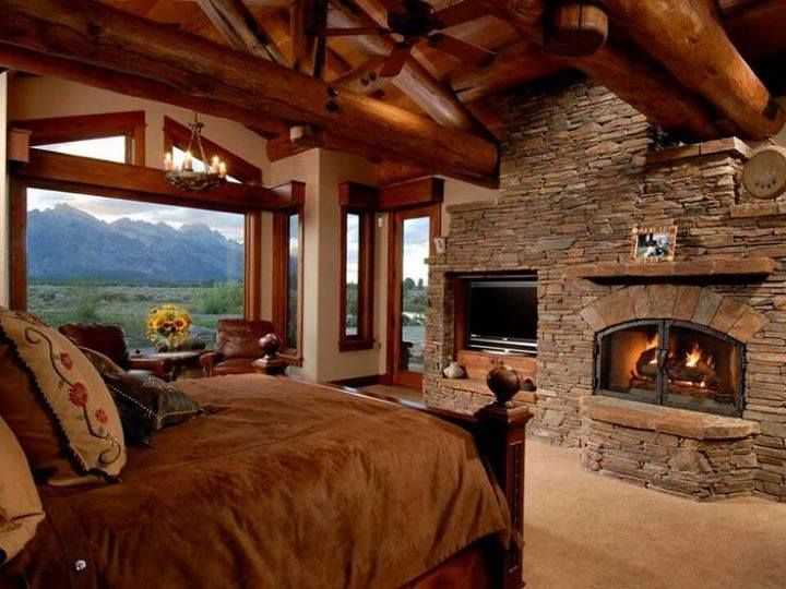 Achieve This Look With Glen Gery Stone Log Home Bedroom Log
