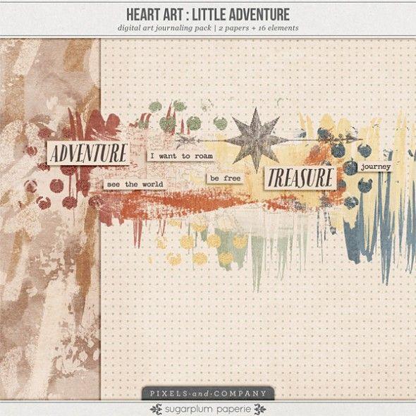 Heart Art: Little Adventure tiny kit freebie from Sugarplum Paperie