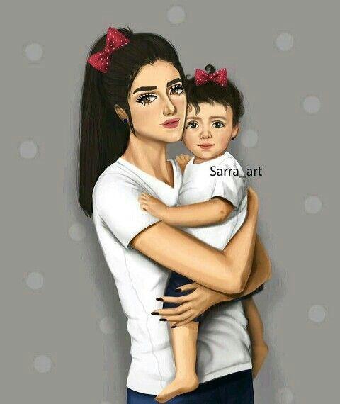 Pin De Sʌɭʋ Bʜʌɩ Em Moms With Cute Kids Mae E Filha Desenho Pintura Mae E Filho Fotos Romanticas De Casal