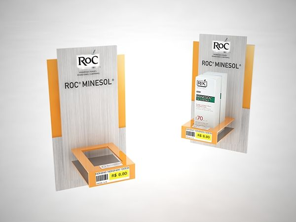ROC Minesol POP materials on Behance