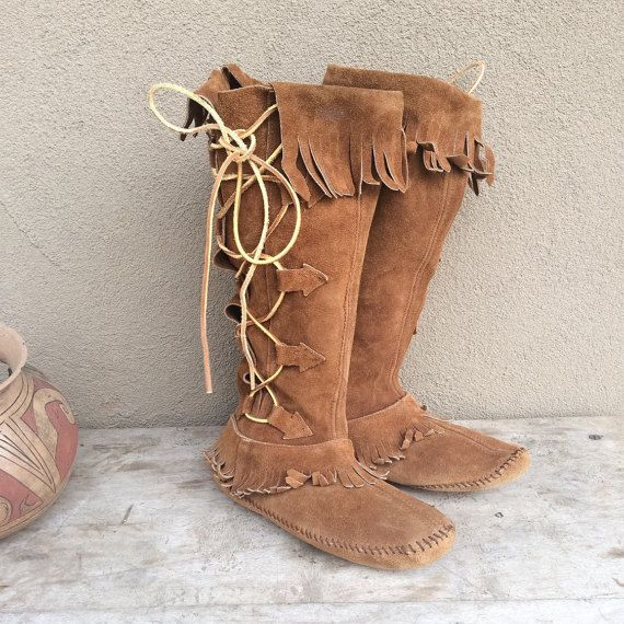 5a24bd09235c4 Authentic vintage Taos tall moccasin boots Women's size 8 to 9 wide ...
