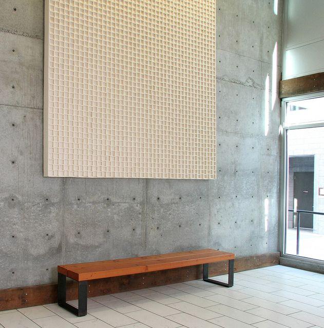 lobby-wall-panel-industrial-felt-acoustic-art | felt wall ...