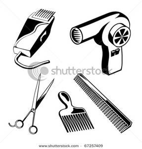 Hair Salon Black Art Black And White Hair Accessories Clipart