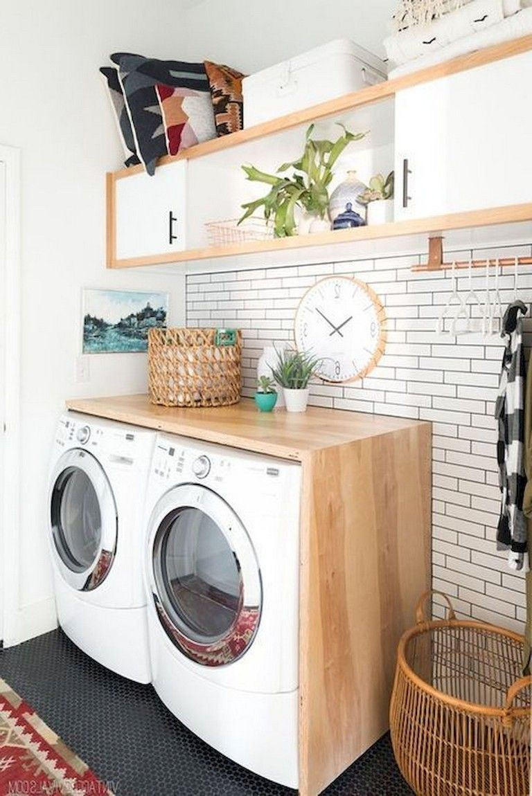33+ Awesome Eclectic laundry Room Design Ideas Remodel #remodelingorroomdesign
