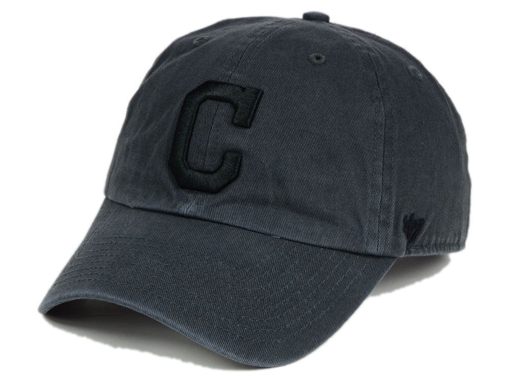 eb0afa6b61f ... adjustable baseball hat youth 1f261 ec6d0  new zealand cleveland  indians 47 mlb charcoal black 47 clean up cap 1095a e3295