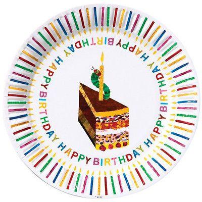 Party Plates & Napkins - The Very Hungry Caterpillar Happy Birthday ...
