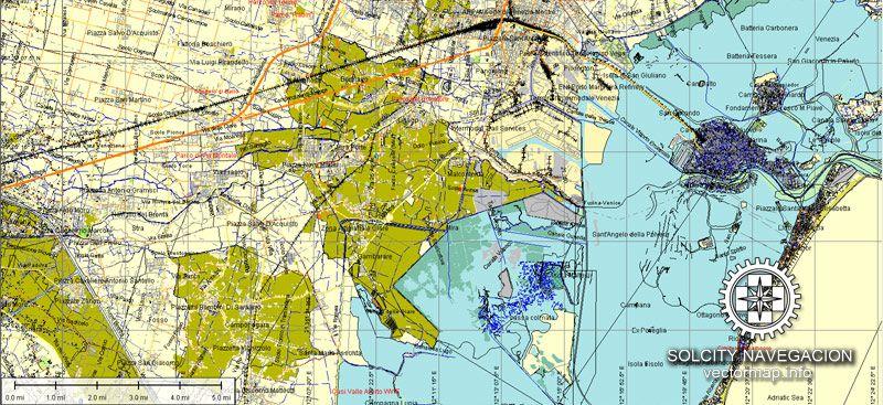 Venezia Venice Vector Map In AI Format Italy This Italian - Venice map printable